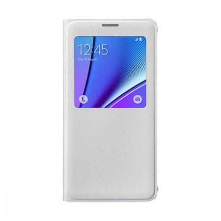 Samsung Galaxy Note 5 - husa agenda S View - alb