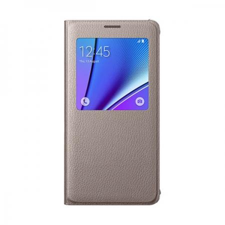 Samsung Galaxy Note 5 - husa agenda S View - bej