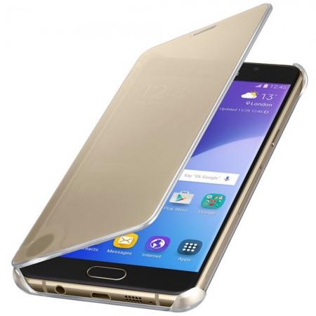 Samsung - Husa Clear View Cover pentru Galaxy A5 (2016), Auriu