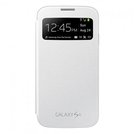 Samsung S-View Cover alb pentru  Galaxy S4 i9500/i9505