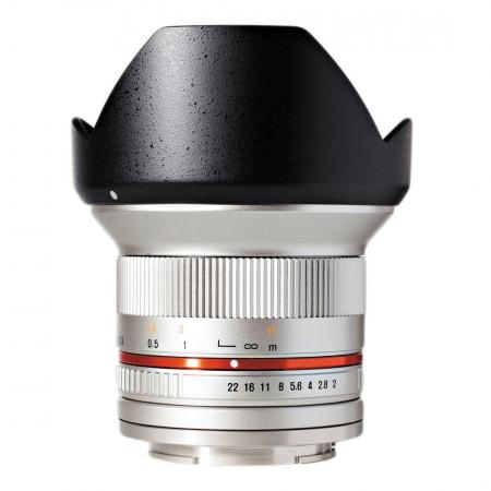 Samyang 12mm 2.0 NCS CS Canon EF-M - argintiu