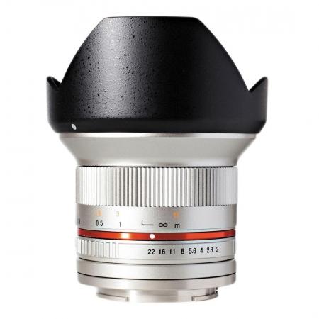 Samyang 12mm 2.0 NCS CS Fujifilm X - argintiu