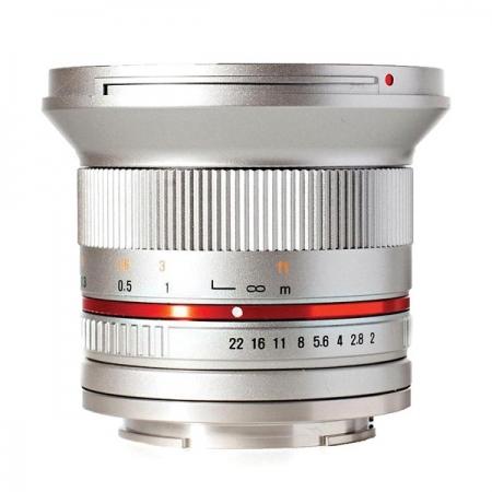 Samyang 12mm 2.0 NCS CS Micro 4/3 - argintiu