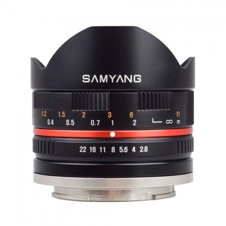 Samyang 8mm Fisheye F2.8 Canon EF-M negru