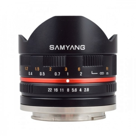 Samyang 8mm Fisheye F2.8 negru - pentru Samsung NX