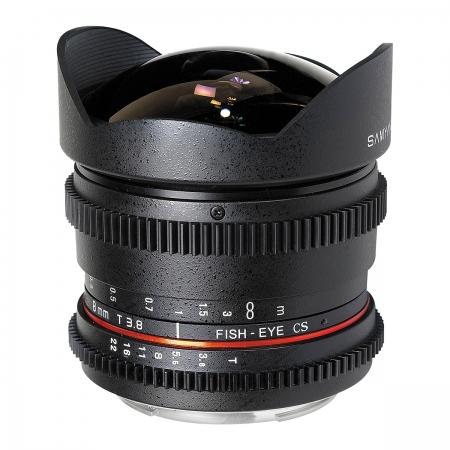 Samyang 8mm T3.8 Nikon VDSLR CSII - Cine Lens