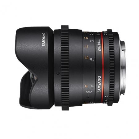 Samyang VDSLR 16mm T2.6 ED AS UMC - Montura Sony FE, negru