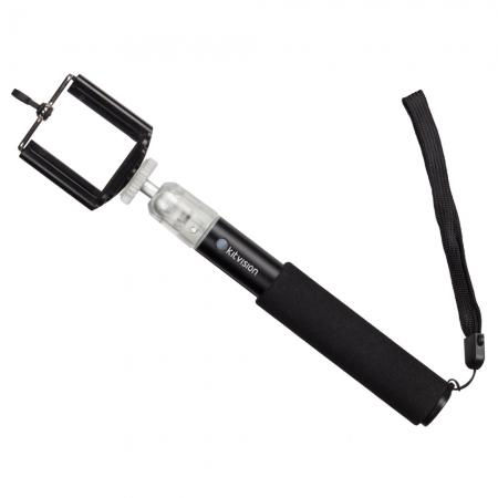 Selfie Stick extensibil cu suport de telefon, S - negru
