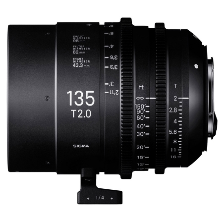 Sigma Cinema 135mm T2 - montura Sony FE, negru