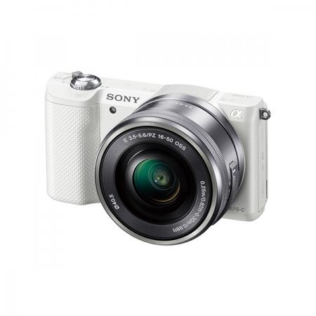 Sony Alpha A5000 Alb (ILCE-5000L/W) + SEL16-50mm E-Mount, 20.1MP,WiFi/NFC,FullHD RS125010995-2