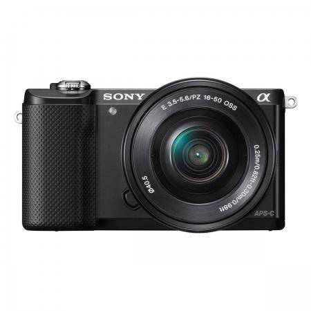 Sony Alpha A5000(ILCE-5000L/B) + SEL16-50mm E-Mount, 20.1MP,WiFi/NFC,FullHD RS125010189-16