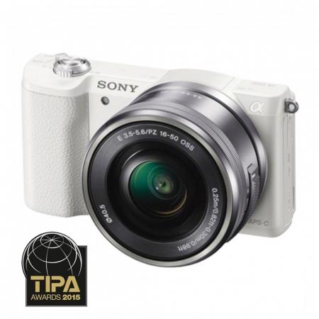 Sony Alpha A5100 (ILCE-5100L/W) alb + SEL16-50mm - aparat foto mirrorless cu WiFi si NFC