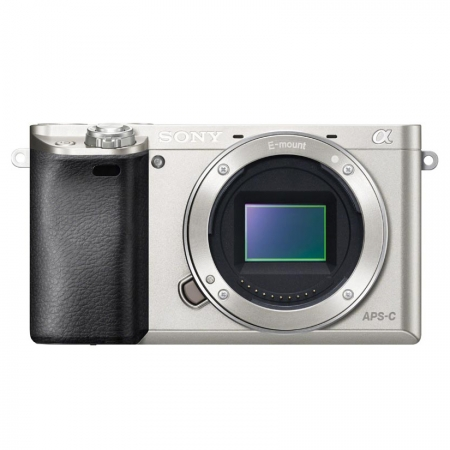 Sony Alpha A6000 body argintiu - aparat foto mirrorless cu Wi-Fi si NFC