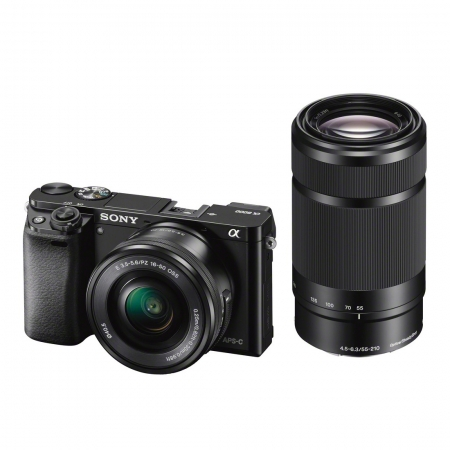 Sony Alpha A6000 negru + SEL16-50mm F3.5-5.6 + SEL55-210mm Wi-Fi/NFC  RS125011360-5