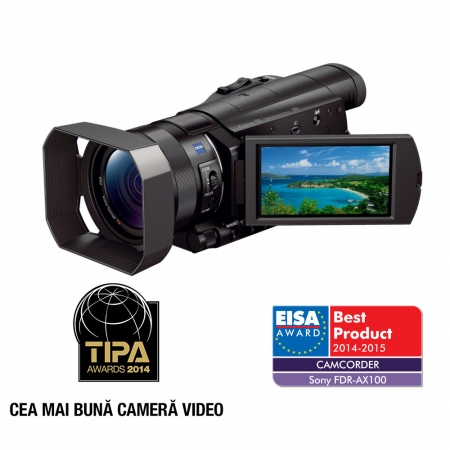 Sony Camera Video Profesionala FDR-AX100 cu 4K RS125010369-2