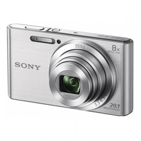 Sony DSC-W830 Argintiu 20,1 MP, zoom optic 8x,SteadyShot optic & obiectiv Zeiss® - RS125010193-1