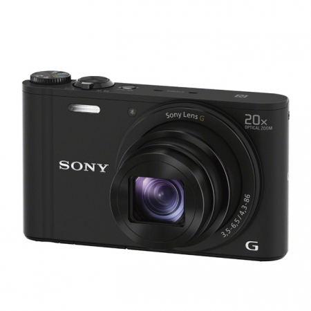 Sony DSC-WX350B negru - 18,2 Mpx, zoom optic 20x, Wi-Fi, NFC