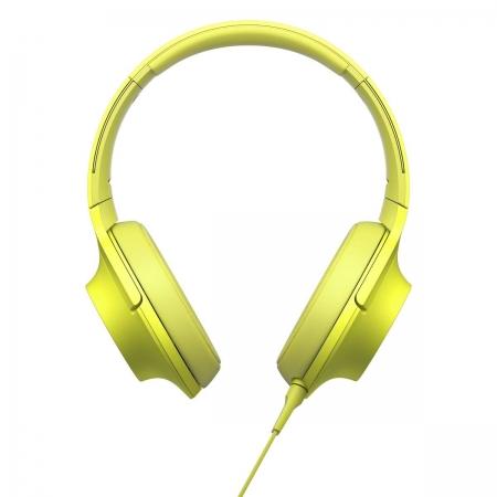 Sony Hi Res MDR-100 - casti audio, galben lamaie