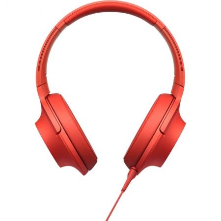 Sony Hi Res MDR-100 - casti audio, rosu