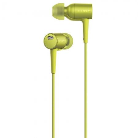 Sony Hi Res MDR-EX750 - casti audio in ear, galben lamaie