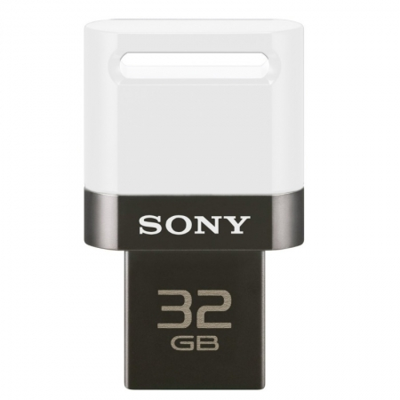 Sony USB On-The-Go 32GB alb - stick de memorie microUSB compatibil Android