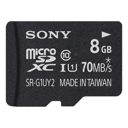 Sony microSDHC 8GB UHS-I, incl SD Adapter - clasa 10, 70MB/s