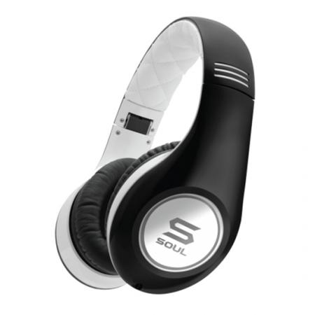 Soul SL300 Elite HD - Casti On-Ear, alb/negru