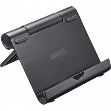 Stand birou Anker negru multi-angle pentru telefon si tableta