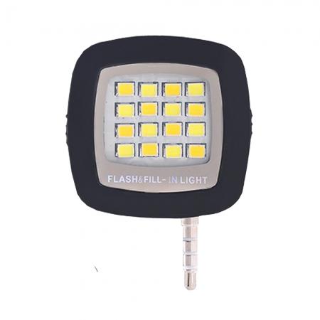 Star - Lampa Led pentru smartphone cu conector jack, Negru