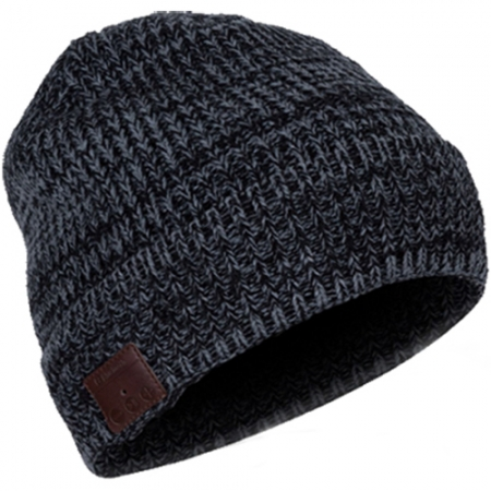 Star Musical Knitting Cuff -  Caciula Cu Bluetooth Si Microfon, Negru
