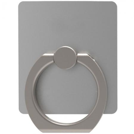 Star - Suport universal pentru telefon cu inel, Argintiu