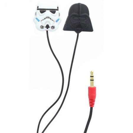Star Wars Casti cu Fir In Ear Darth Vader/Stormtrooper pentru iPhone