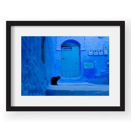 Blue Chefchaouen - Tablou 40x60cm Gina Buliga 03