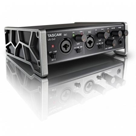 Tascam US-2x2 - Interfata audio USB cu 2 intrari XLR/TRS, Phantom Power