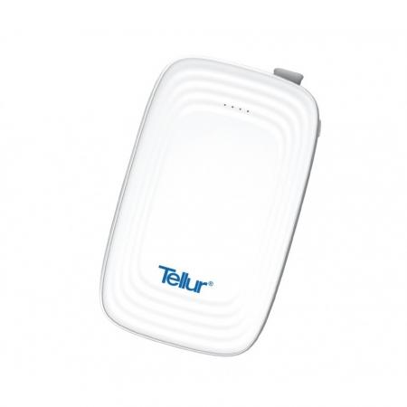 Tellur Baterie externa Slim 3 in 1 10.000 mAh, Alb
