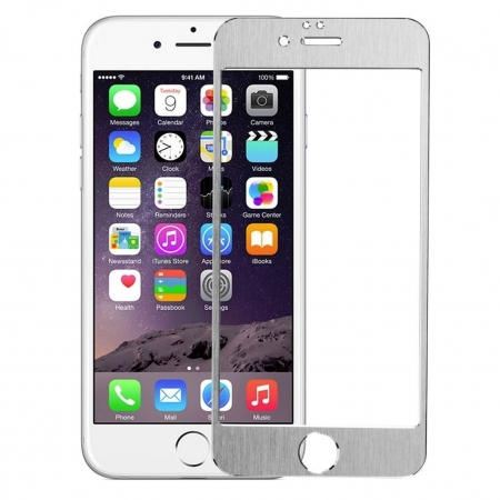 Tempered Glass - Folie protectie sticla securizata iPhone 6 - Silver aluminium