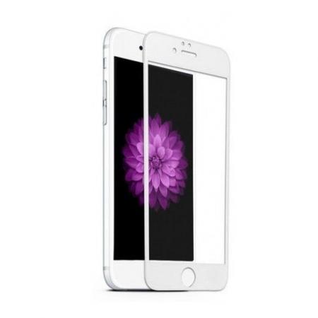 Tempered Glass Folie protectie sticla securizata iPhone 6 full 3D, alb