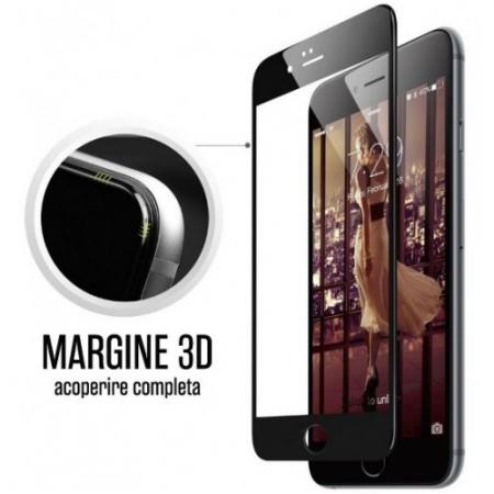 Tempered Glass - Folie protectie sticla securizata pentru iPhone 7 Plus Full 3D, Negru