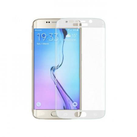 Tempered Glass - folie sticla pentru Samsung Galaxy S6 Edge alb
