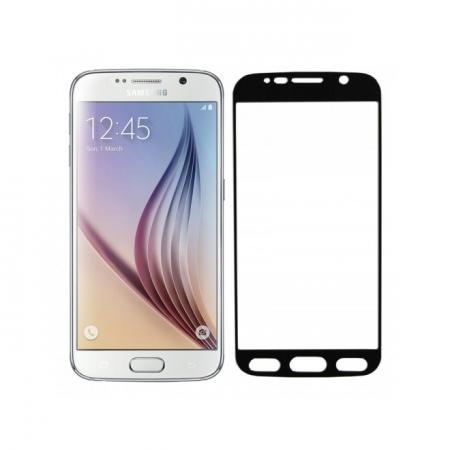 Tempered Glass - folie sticla pentru Samsung Galaxy S6 - aluminiu negru