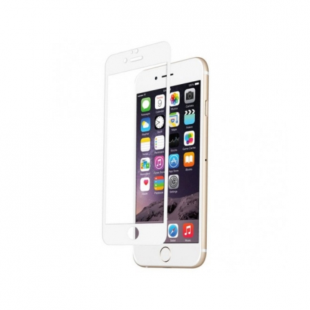Tempered Glass - folie sticla pentru iPhone 6 Plus - alb