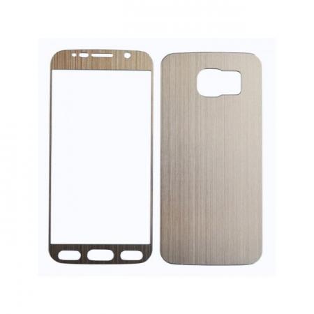 Tempered Glass - set folii sticla pentru Samsung Galaxy S6 auriu