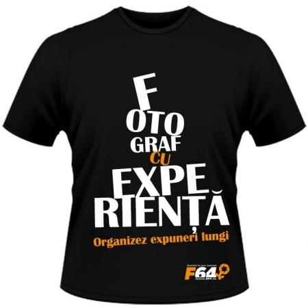 Tricou negru - Fotograf Cu Experienta - L