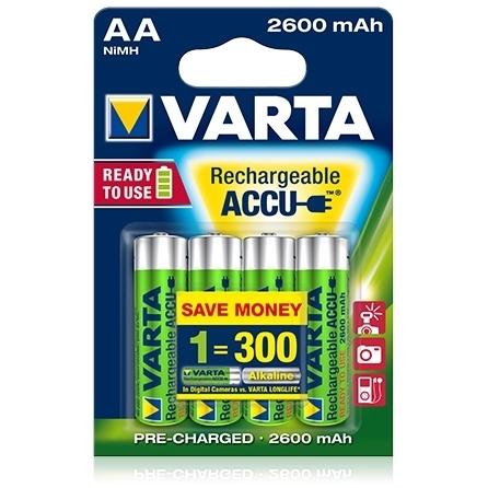 Varta - Acumulatori reincarcabili AA R6 2600 mAh, blister 4 buc.