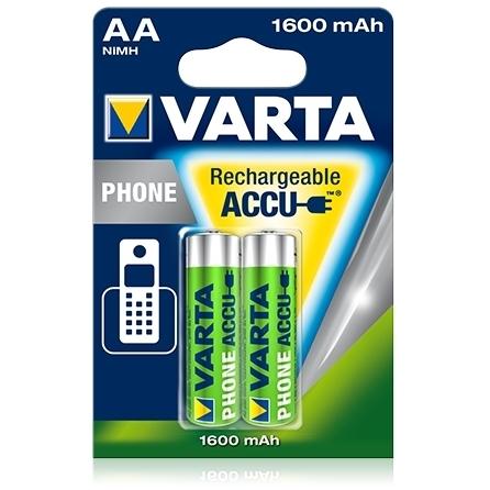 Varta - Acumulatori reincarcabili Phone, AA R6 1600 mAh, blister 2 buc.