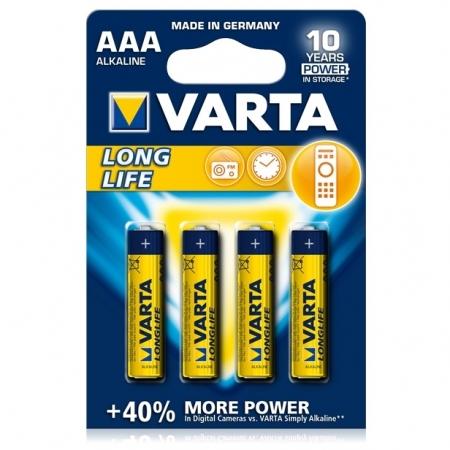 Varta LongLife - baterie alcalina AAA, 4 bucati/ blister