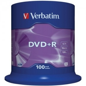 Verbatim set 100 buc DVD+R 4.7GB 16x