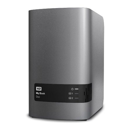WD My Book Duo 4TB - HDD extern USB 3.0 - charcoal