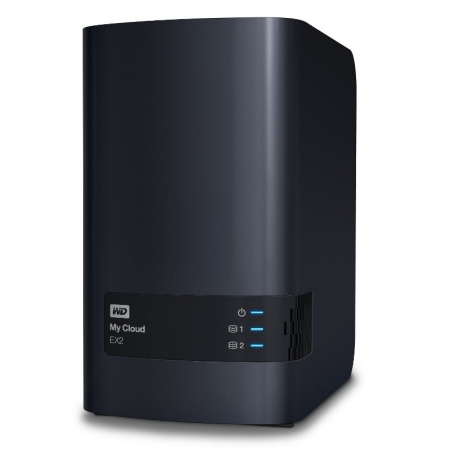 WD My Cloud EX2 8TB, RAID, Network Attached Storage HDD extern USB 3.0