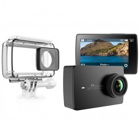Xiaomi - Camera Action Y2 360 4K + Husa Waterproof, Alb